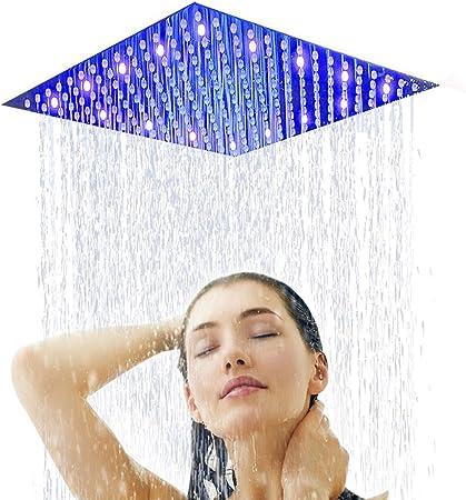 6in-12in Stainless Steel Rain Shower Head Round Square Rainfall Bathroom Sprayer