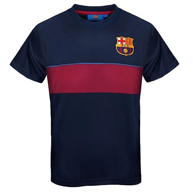 FC Barcelona - Camiseta oficial de entrenamiento - Para niño - Poliéster -  Rayas azul marino a2076bc128f