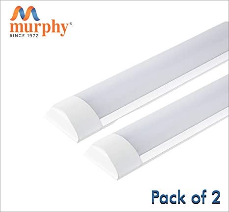 Murphy LED Flat Tube Light 2 Feet 20W -Cool White Batten Pack of 2 Tube Lights & Battens at amazon