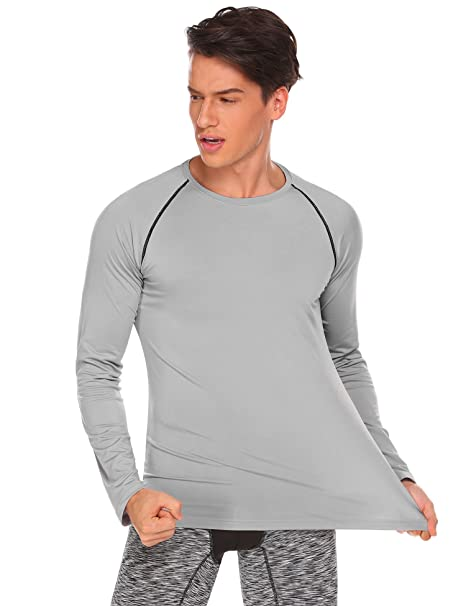Tops Basic Sleeve Shirts Classic Fit Cotton T Mens Lace Casual Tee Long Up Coofandy n0kOPw