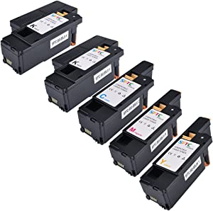 SPTC High Yield Compatible Dell E525W E525 525 Toner Cartridge (5 Pack)