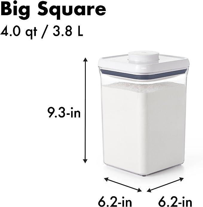Plastica 2,3l OXO Good Grips POP Contenitore Quadrato Grande Trasparente