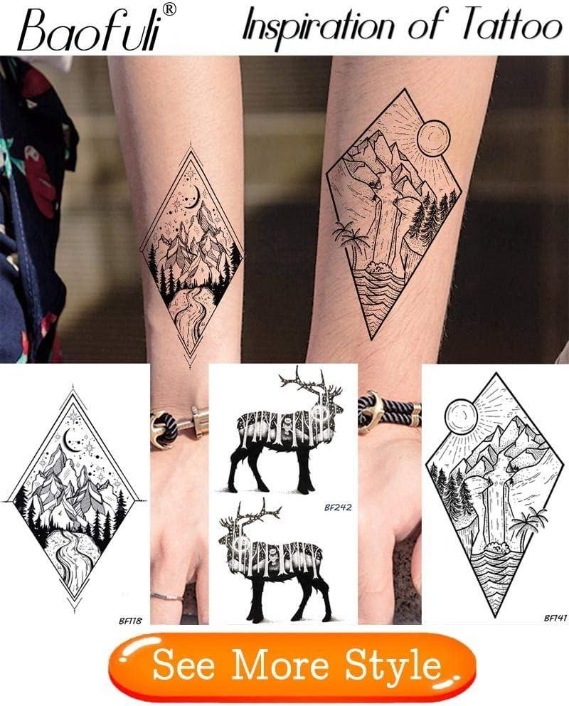 Yyoutop 8 unidsFlora Etiqueta Engomada del Tatuaje Temporal ...