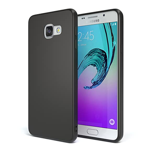 EAZY CASE Handyhülle Silikon mit Kameraschutz Samsung Galaxy A3 (2016) in schwarz matt, Ultra dünn, Slimcover, Silikonhülle,