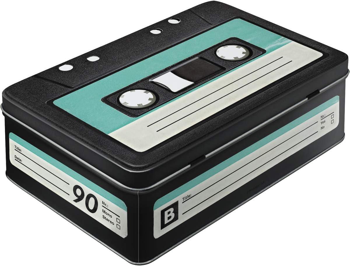 Nostalgic-Art Wave 30714 Retro Cassette Storage Tin Flat