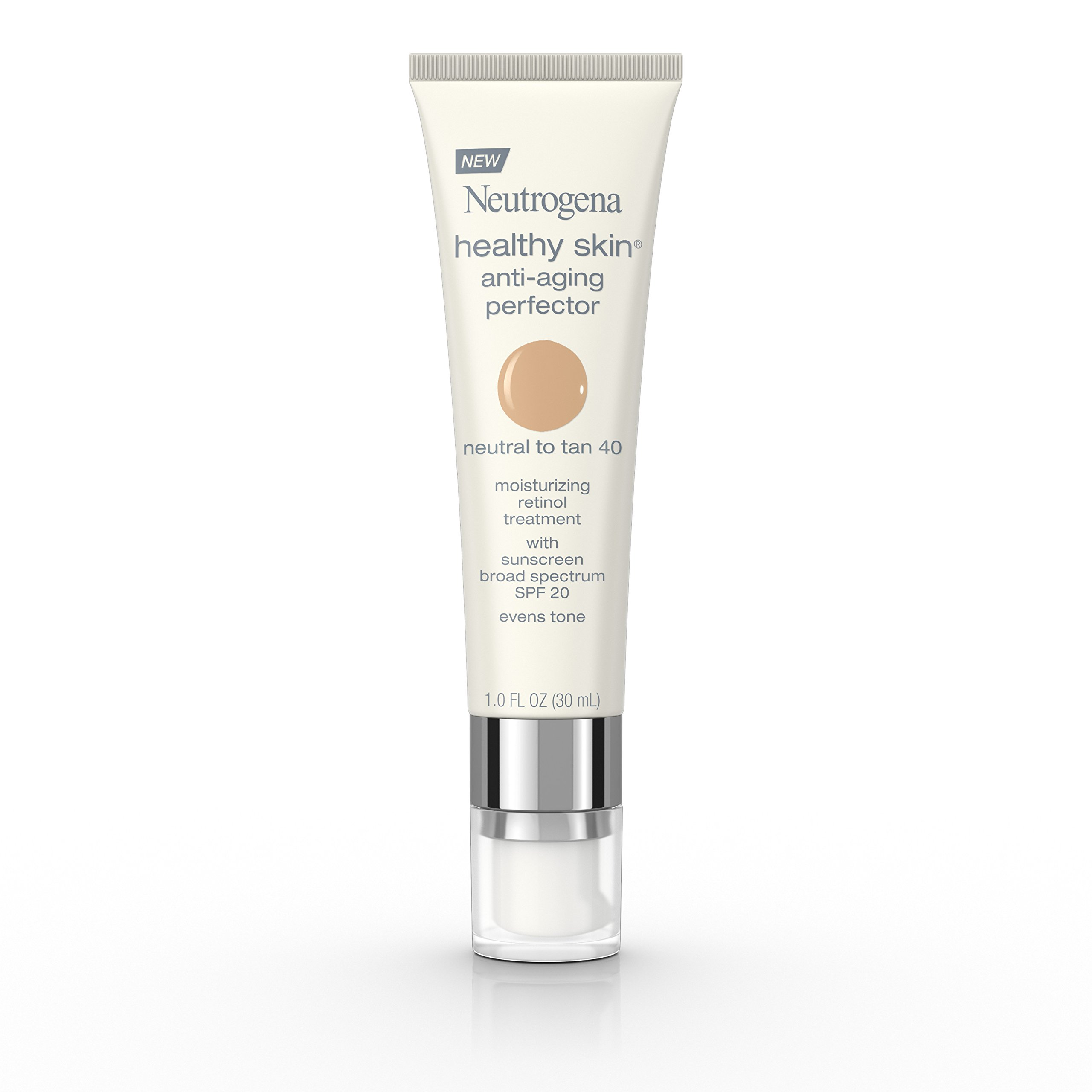 Neutrogena Healthy Skin Anti-Aging Perfector Spf 20, Retinol Treatment, 40 Neutral To