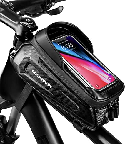Bike Phone Front Frame Bag Top Tube Cycling Waterproof Hard Shell Phone Bag