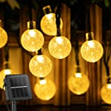 Solar String Lights Outdoor 60 Led 35.6 FT Crystal Globe Lights with 8 Lighting Modes, Waterproof Solar Powered Patio…