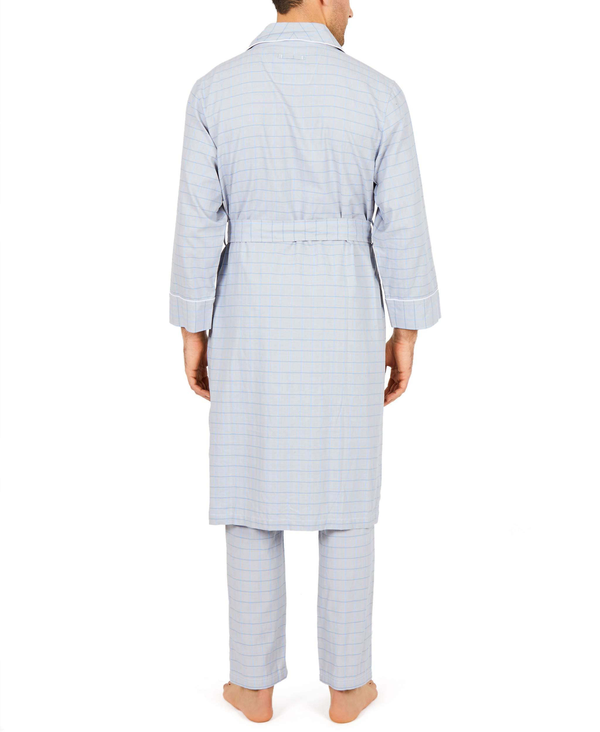 Nautica Mens Sleepwear WR22S7 Herringbone Plaid Cotton Robe Choose SZ//Color.
