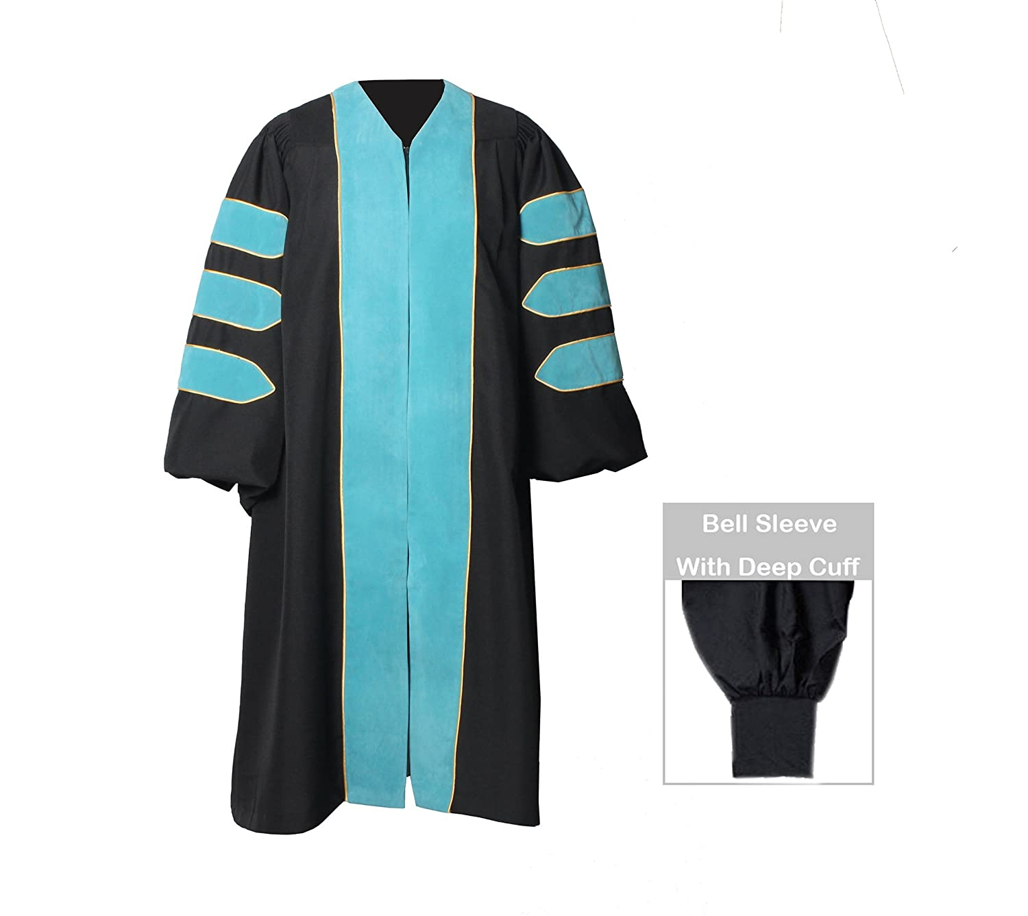 Amazon.com: GraduationForYou Doctoral Gown With Velvet and Gold ...