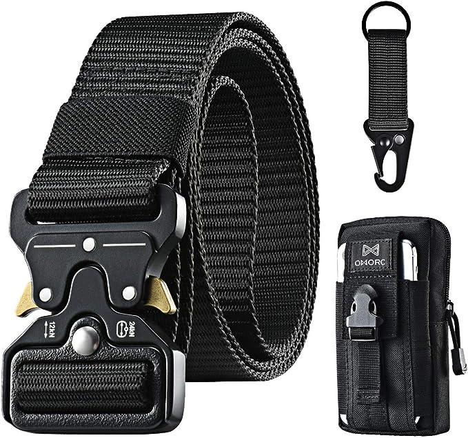 Adjustable Nylon Tool Bag Belt Strap Waist Web Working with Release Buckle Black