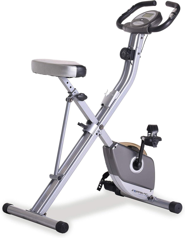 Amazon.com : Exerpeutic Folding Magnetic Upright Exercise Bike with Pulse : Exercise Bikes : Sports & Outdoors