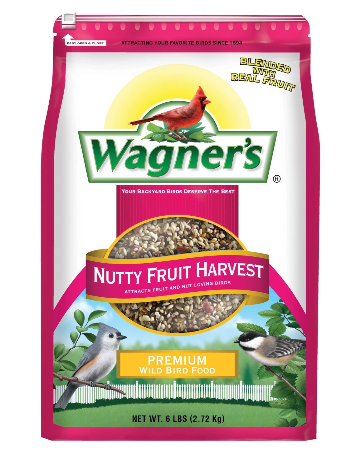 amazon com wagner u0027s 62072 nutty fruity harvest wild bird food