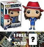 Agent Carter: Funko POP! x Agent Carter Vinyl Figure + 1 FREE Official Marvel Trading Card Bundle [59200]