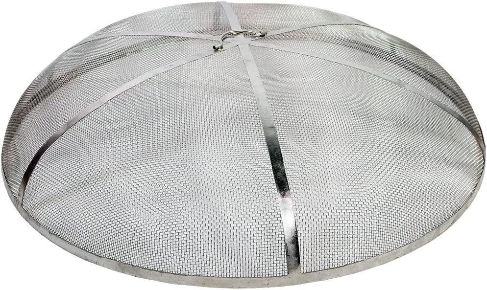 Sunnydaze Round Outdoor Heavy duty Fire Pit Spark Screen Cover Guard – Best Heavy Duty spark screen