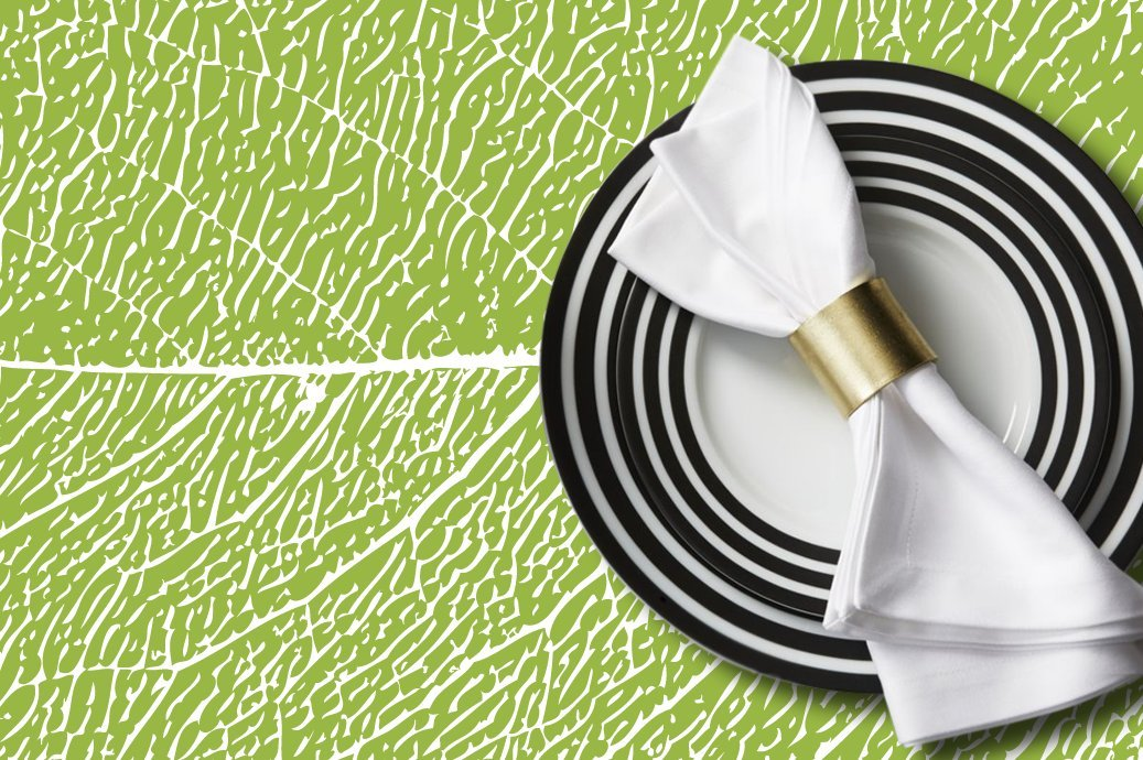Petunia Paper Placemats- 50 Count multiple design block. Chic & Sophisticated paper placemats for your dining experience.Very easy to clean up/Disposable (Lino Green, Bond)