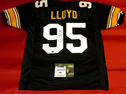 9e2e230f6 GREG LLOYD AUTOGRAPHED PITTSBURGH STEELERS JERSEY AASH at Amazon s ...