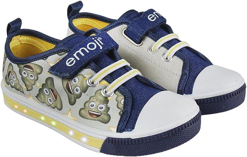 Zapatillas con Luces Emoji - Bambas de Lona con luz Emoji Caca ...