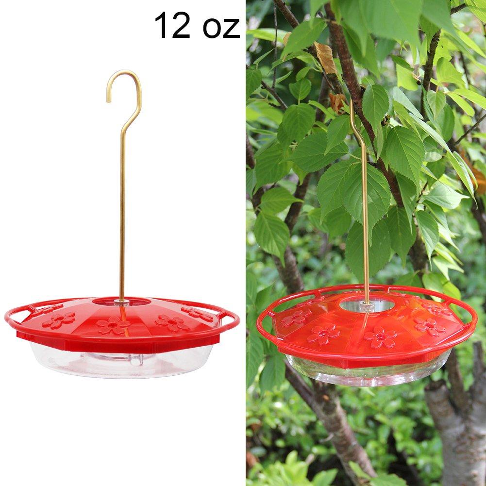 Maggift 12 oz Hanging Hummingbird Feeder with 8 Feeding Ports