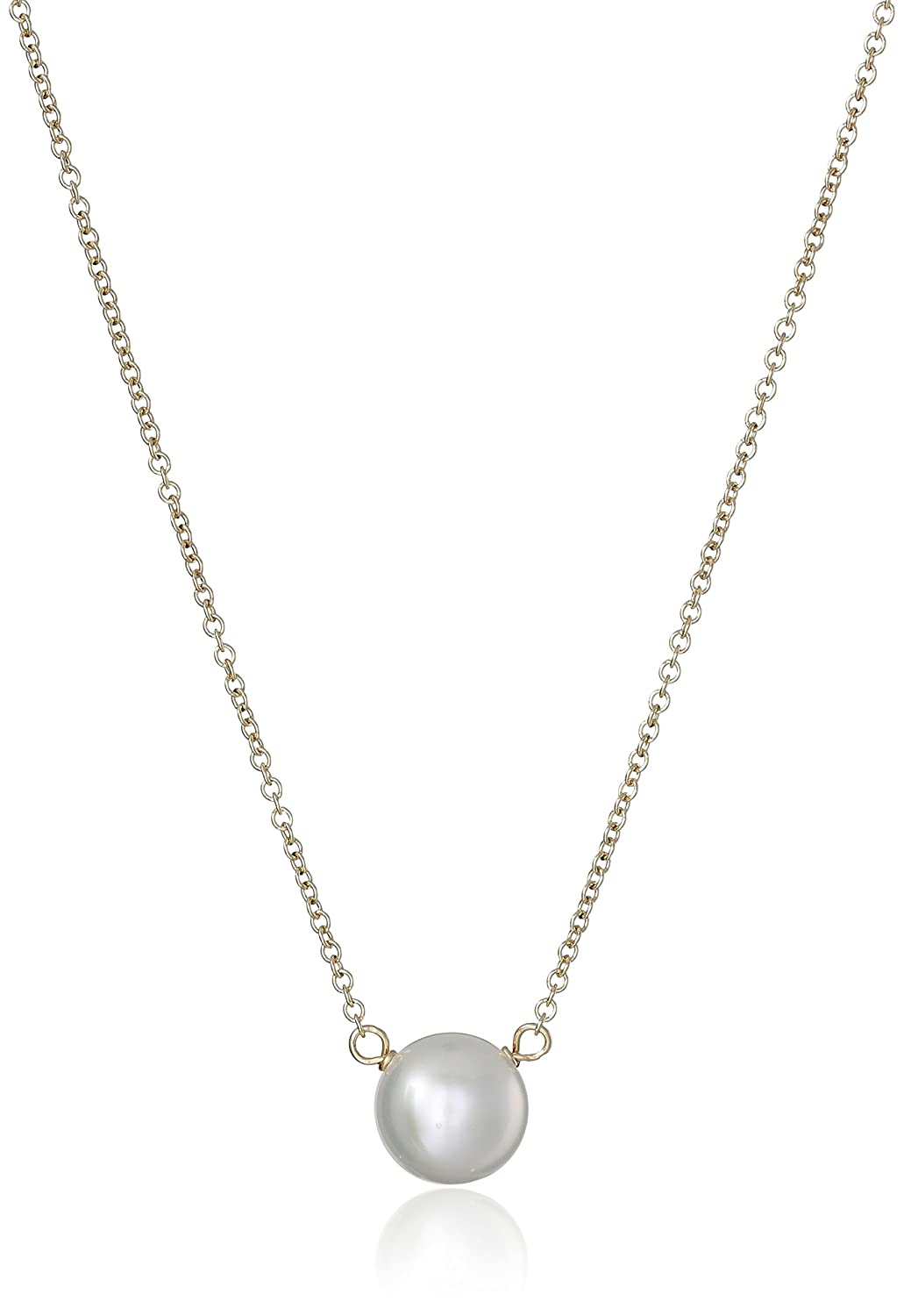 18 Dogeared Pearls of Love 8mm Freshwater Pearl Necklace