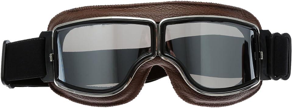 Motorrad Brillen Schutzbrillen Retro Helm Aviator Pilot Für Motocross Harley Silber Glas Auto