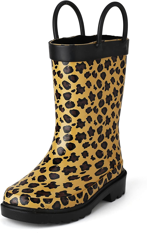 leopard print rain booties