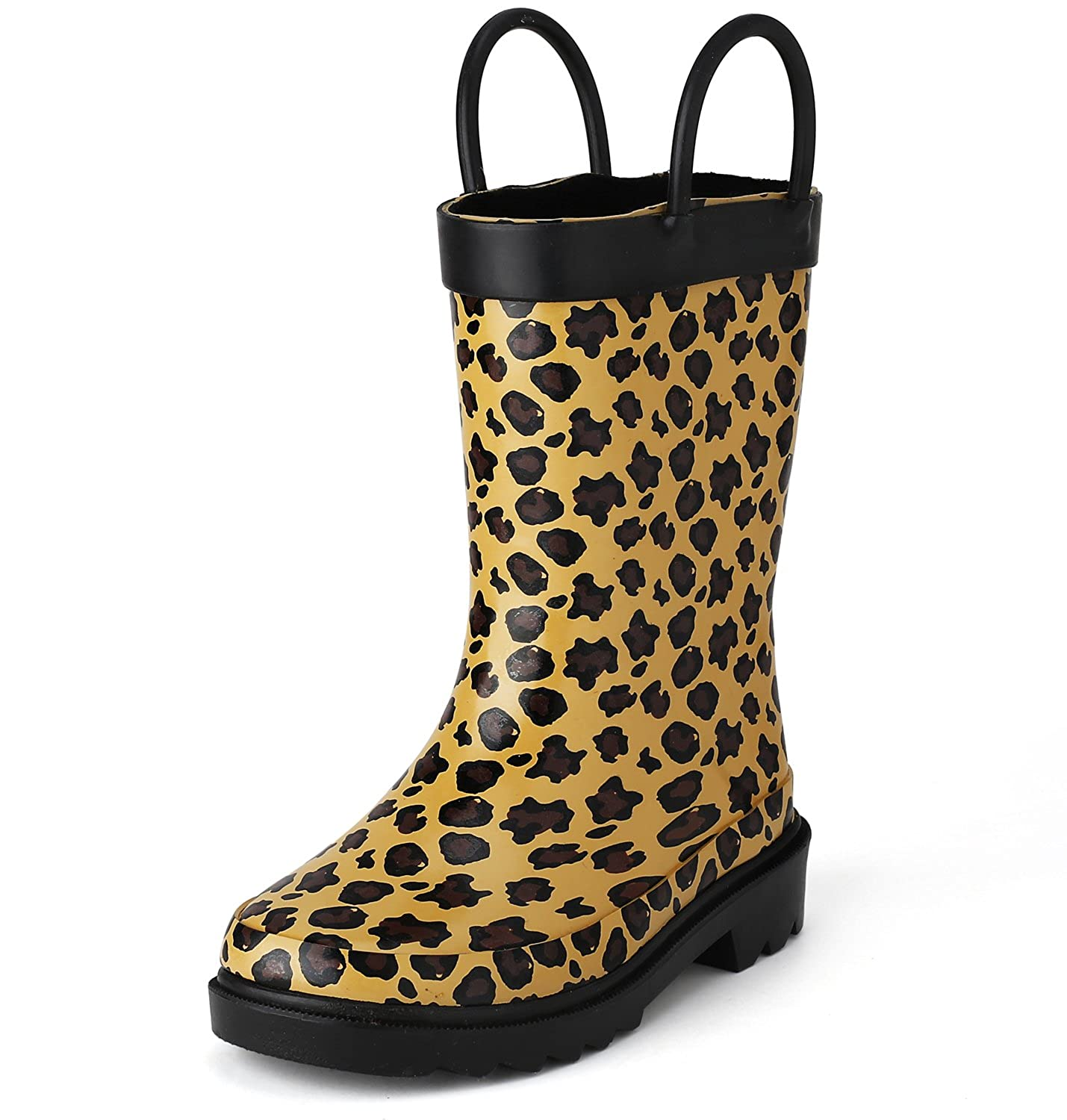 9319e4eb2f8b Amazon.com | Puddle Play Leopard Girls Brown Rain Boots (Toddler/Little  Kids) | Boots