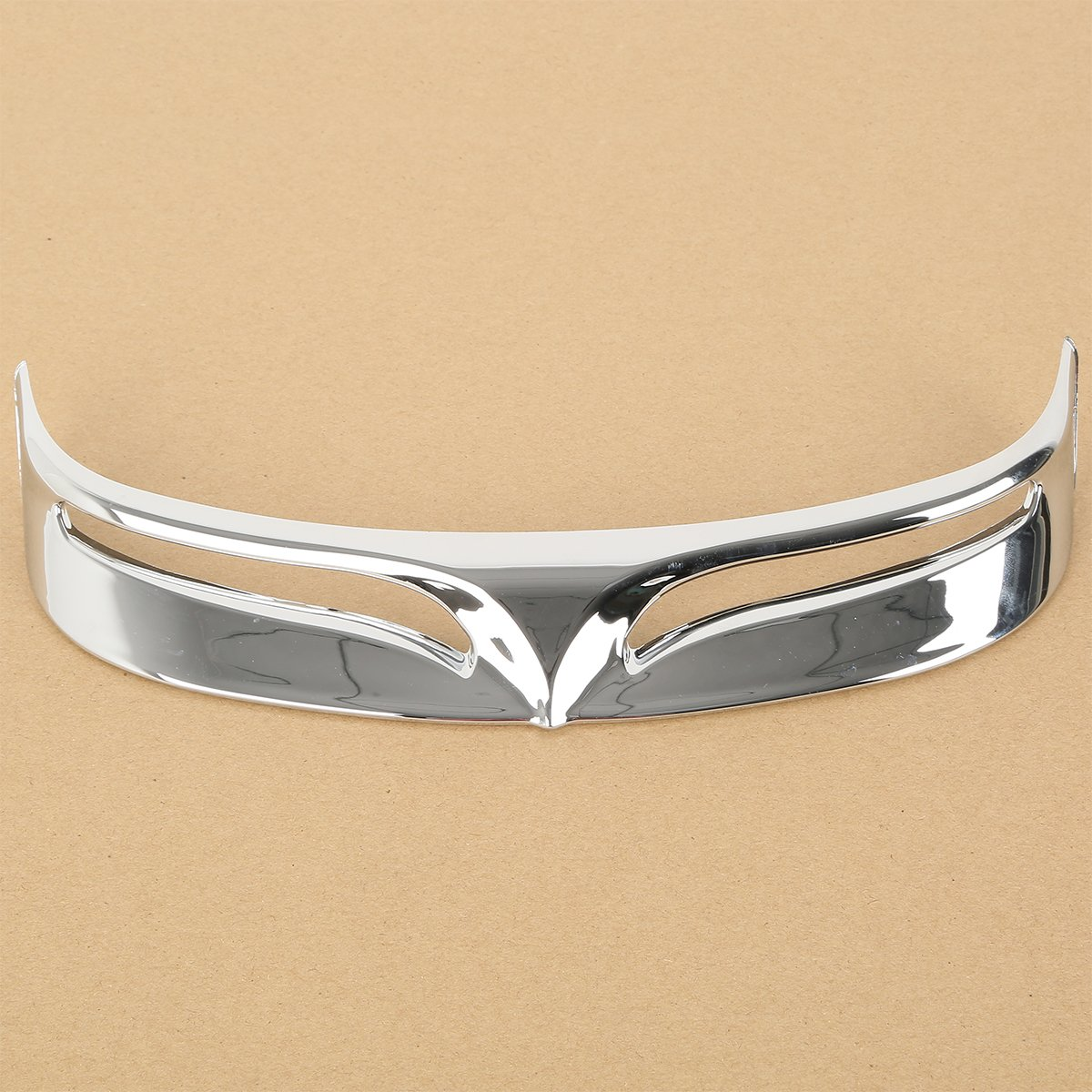 XFMT Chrome ABS Rear Fender Tip Trailing Edge Compatible with Harley Fatboy FLSTF 2009 2010 2011 2012 2013
