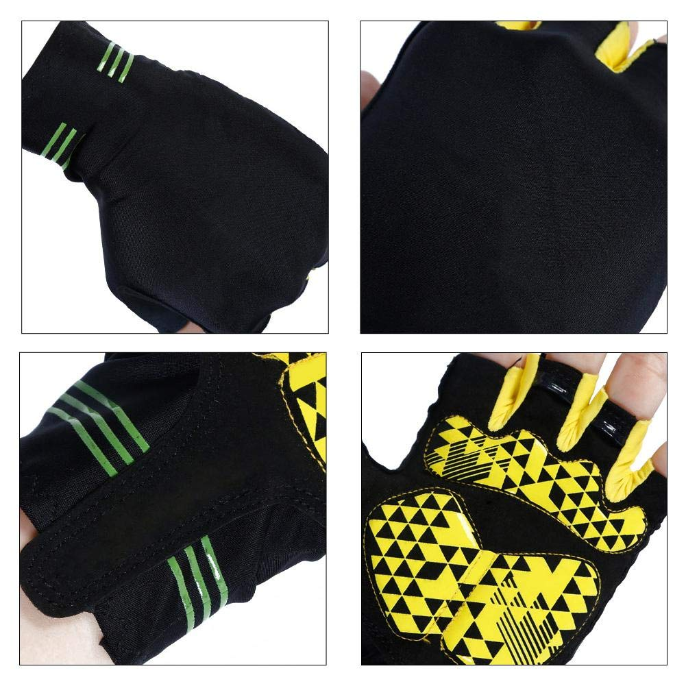 Half-Finger Gloves Shock Absorption Sports Wear-Resistant Anti-Slip Fitness Riding Outdoor Breathable Cycling Gloves for Men Women