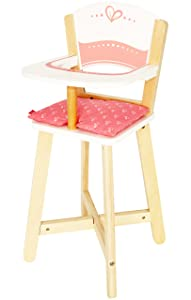 Award Winning Hape Babydoll Highchair Toddler Wooden Doll Play Furniture