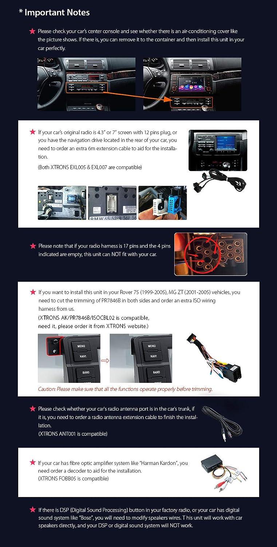 Xtrons Android 81 7 Octa Core Car Head Unit Stereo E46 Business Radio Wiring Harman Dvd Player Gps Navigator Bluetooth 50 Dab 4g Obd Usb Sd Port For Bmw