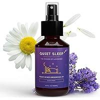 QUIET SLEEP - Kussenspray om in slaap te vallen, lavendelspray voor hoofdkussens, slaapspray als inslaaphulp voor meer…