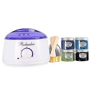 Amazon roleadro wax warmerhair removal waxing kitwax heater roleadro wax warmerhair removal waxing kitwax heater with 4 cans hard wax solutioingenieria Choice Image