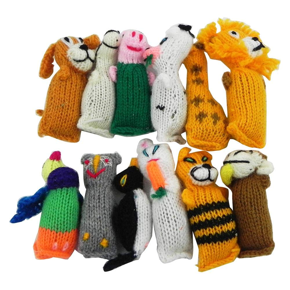 Chilly Dog Barn Yarn Hand Knit Wool Cat Toy with Catnip (12 Pack)