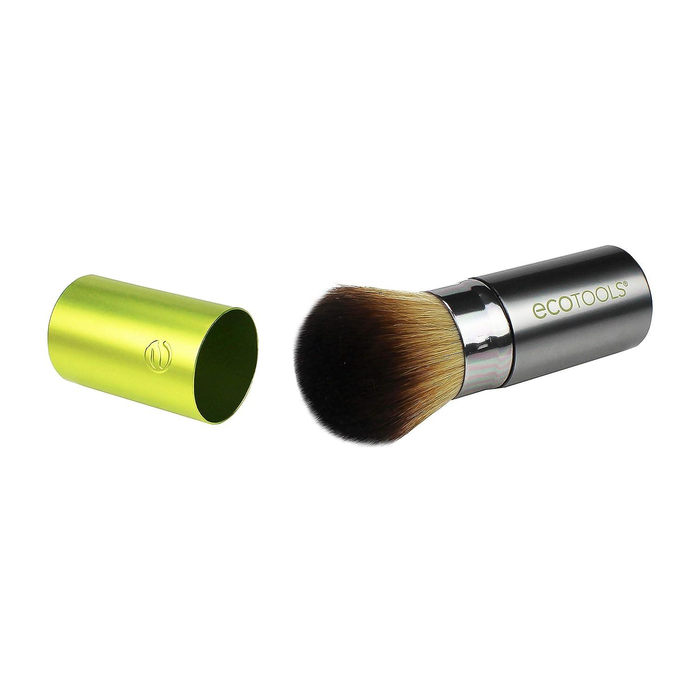 EcoTools Travel Kabuki Makeup Brush for Foundation, Blush, Bronzer, and Powder, Retractable: Beauty