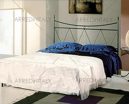 Letto Matrimoniale E Materasso.Letto Matrimoniale In Ferro Colore Nero Grafite Con Giroletto