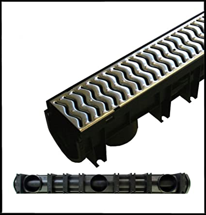 Drainage Channel Storm Drain Galvanised x 7 Next Day Delivery Fernco Heelguard