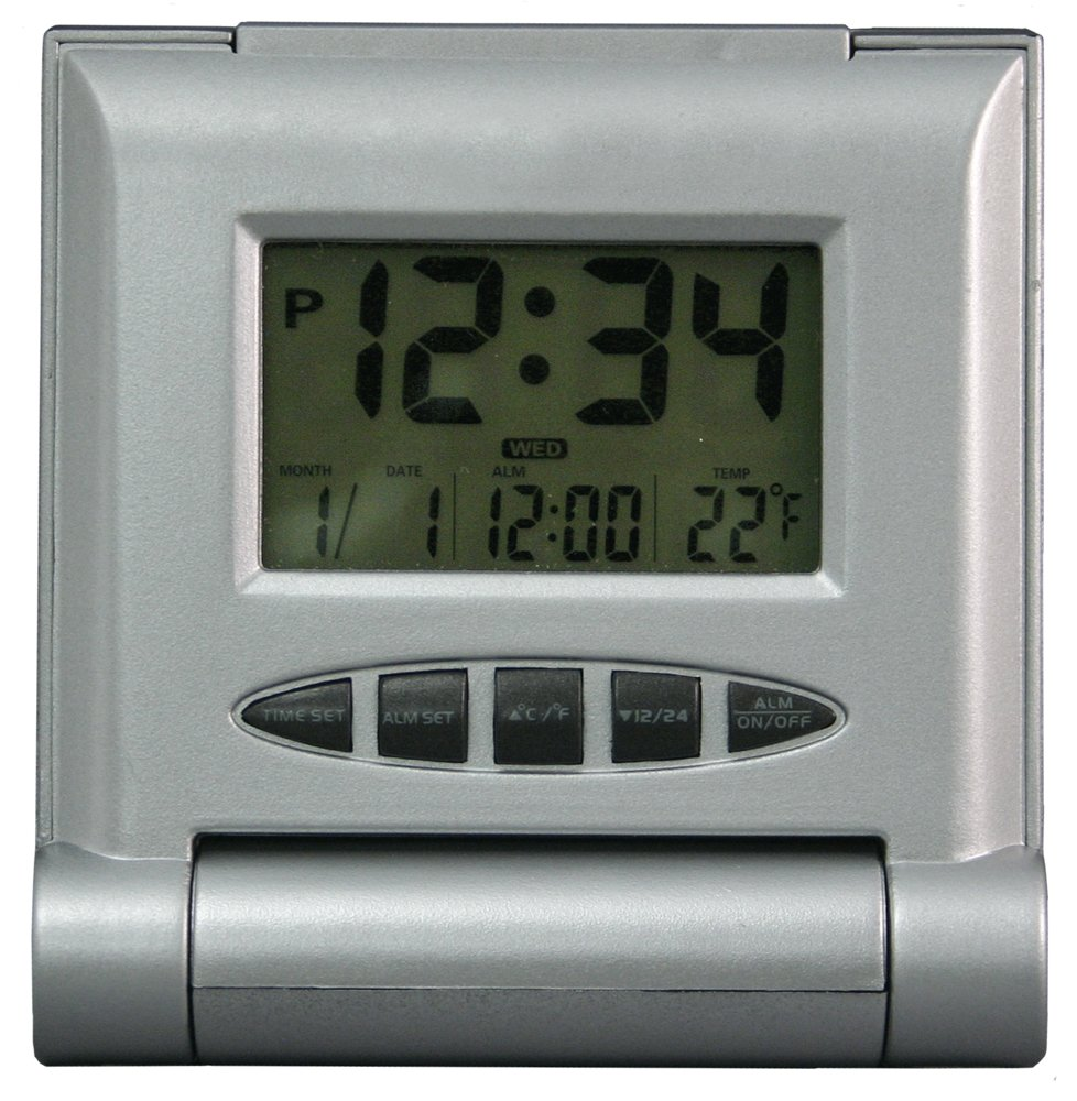 Equity by La Crosse 65902 Solar Travel Alarm clock