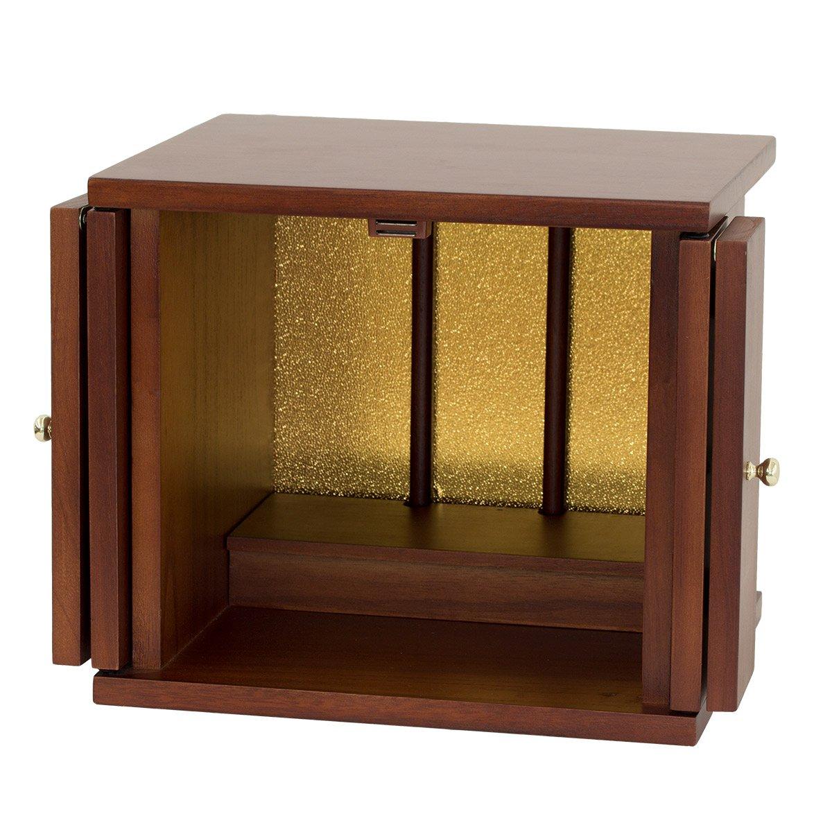 クロシオ 小型仏壇 ちいさやか 改訂版 幅30cm ミニ仏壇 095499 B076J8Z35V