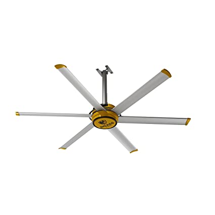 113f01b7 Big Ass Fans 2025 Silver and Yellow Shop Ceiling Fan, 7-ft, - - Amazon.com