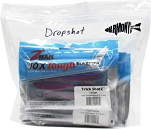 Harmony Fishing Bait Bags (10 Pack) - Durable Clear Storage Bags for Soft Plastic Baits and Fishing Tackle