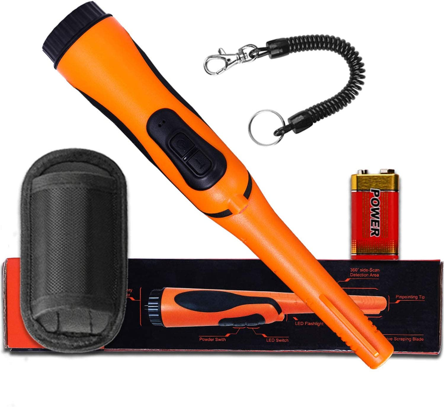 Metal Detector Detecting Pinpointer Flashlight Holder Mount Clip Clamp BODJF
