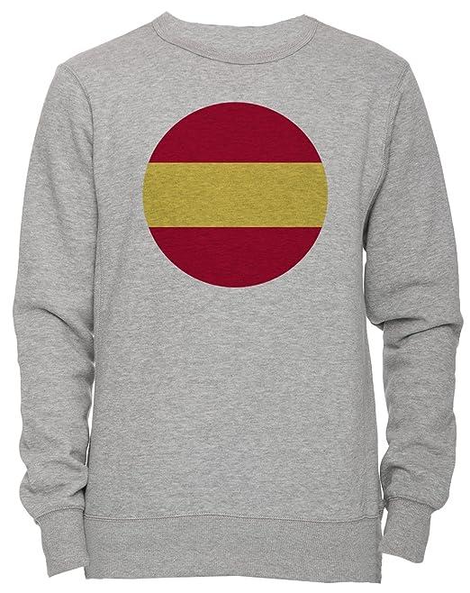 España Nacional Bandera Unisexo Hombre Mujer Sudadera Jersey Pullover Gris Todos Los Tamaños Unisex Mens Womens Jumper Sweatshirt Grey All Sizes: ...