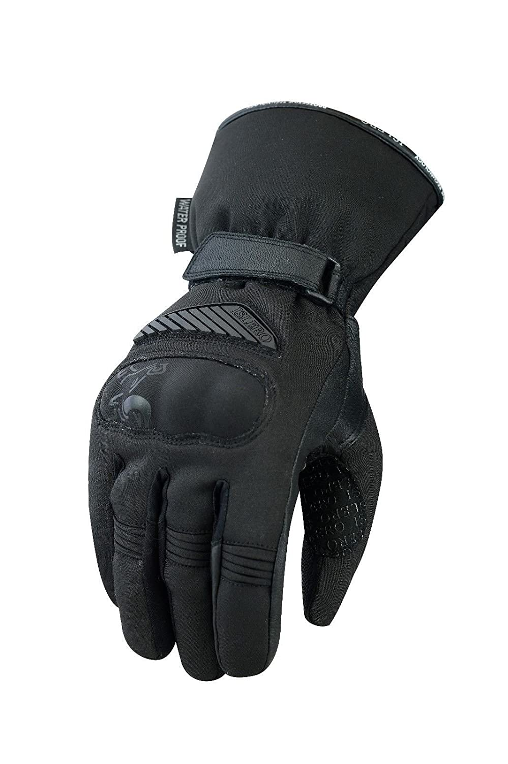Islero Leather Winter Thermal Windproof Waterproof Motorbike Motorcycle Gloves Racing Thinsulate Knuckle Protection Tempest Hipora Smartphone Touch Compatible