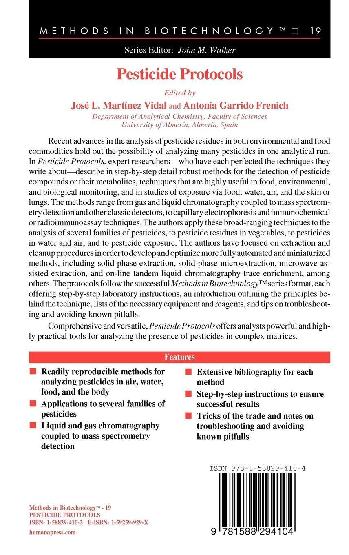 Amazon.com: Pesticide Protocols (Methods in Biotechnology ...