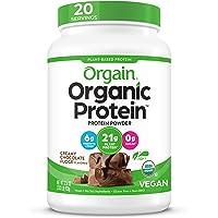 Orgain Organic Plant Protein Powder, Chocolate, 2.3 lbs