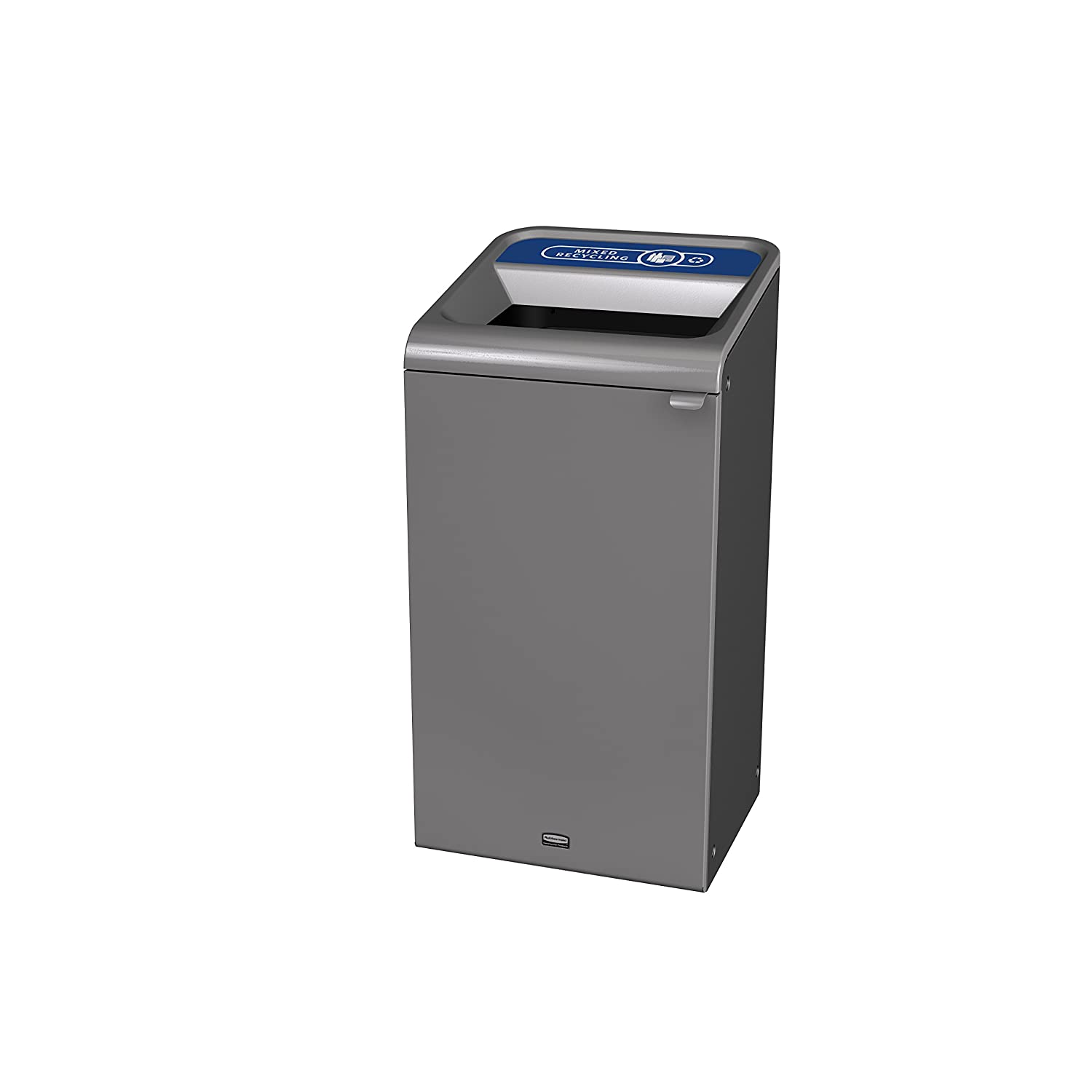 Rubbermaid Commercial Products 1961622 Configure Waste Receptacle Mixed Recycling Can, 23 gal, Grey Stenni
