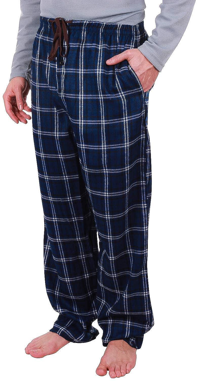 Enimay Mens Fleece /& Flannel 3 Pack Pajama Pants w//Drawstring Pockets Waist