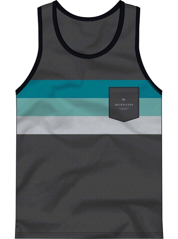 Quiksilver Men's Peaceful Progression Tank Top Tee Shirt, Charcoal Heather, XXL