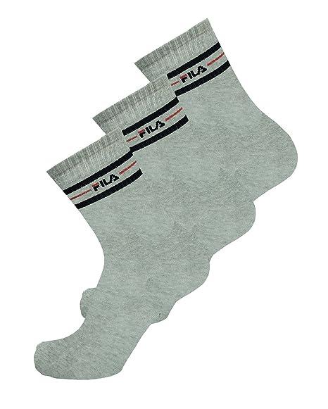 Fila 3 pares de medias, calcetines Sport Street Set, rayas unisex: Amazon.es: Ropa y accesorios